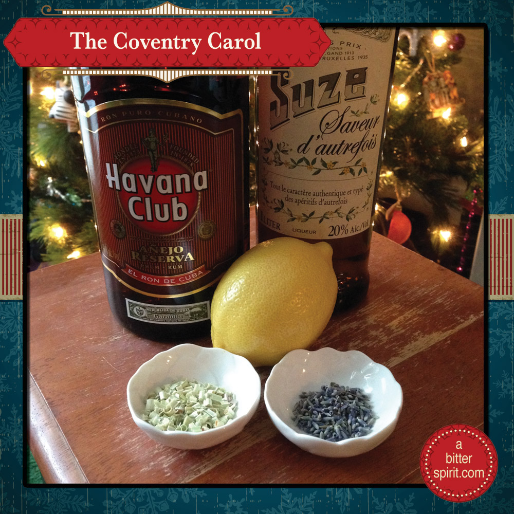 The Coventry Carol Cocktail Ingredients - ABitterSpirit.com