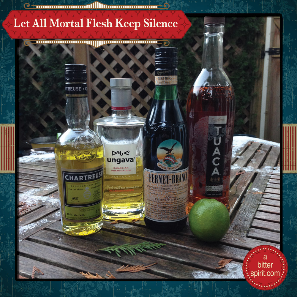 The All Mortal Flesh Keep Silence Cocktail Ingredients - ABitterSpirit.com