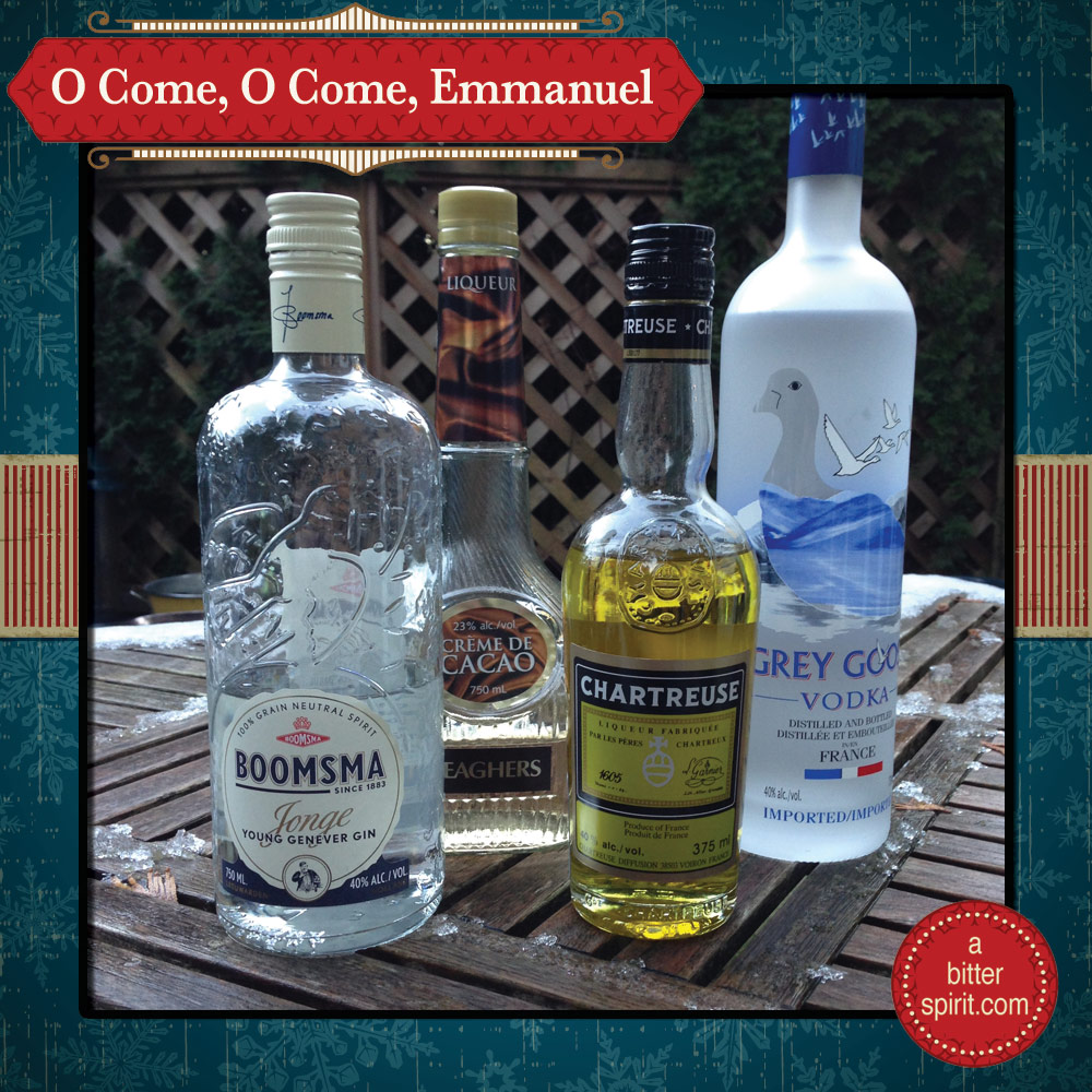 The O Come, O Come Emmanuel Cocktail Ingredients - ABitterSpirit.com