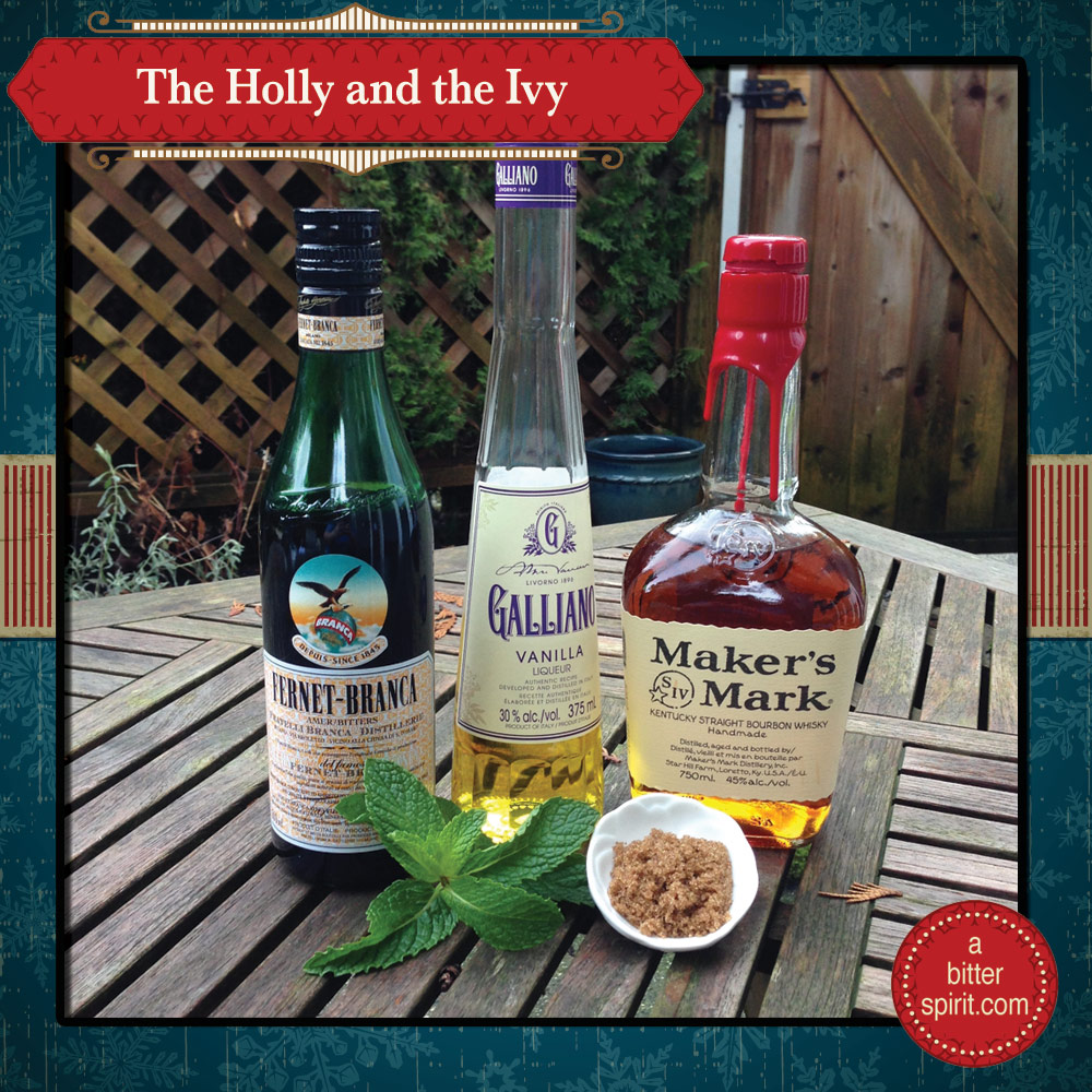 The Holly and the Ivy Cocktail Ingredients - ABitterSpirit.com