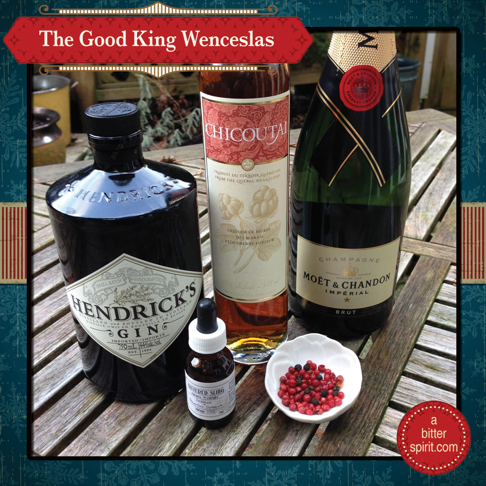 The Good King Wenceslas Cocktail Ingredients - ABitterSpirit.com