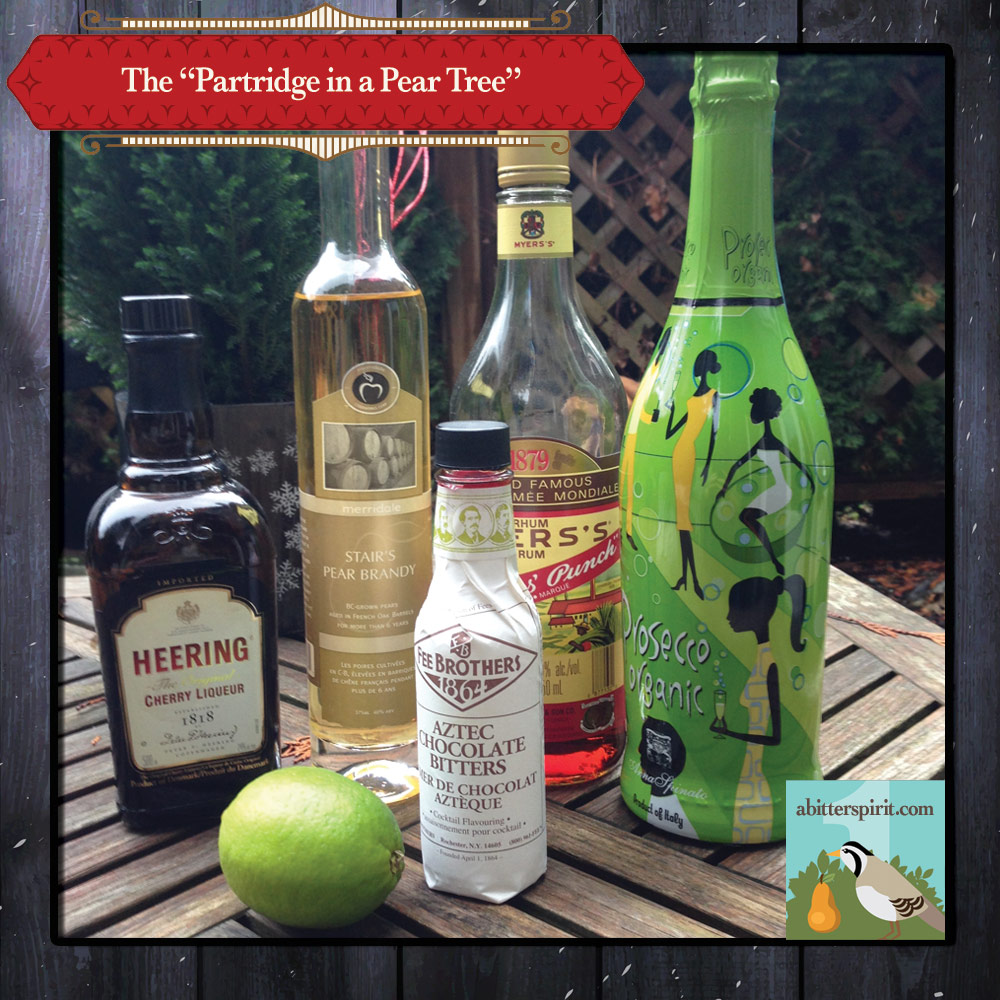 The 'Partridge in a Pear Tree' Cocktail Ingredients - ABitterSpirit.com