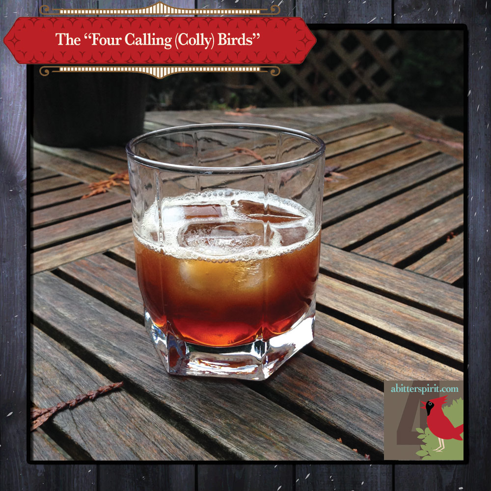 The 'Four Calling Birds' Cocktail - ABitterSpirit.com