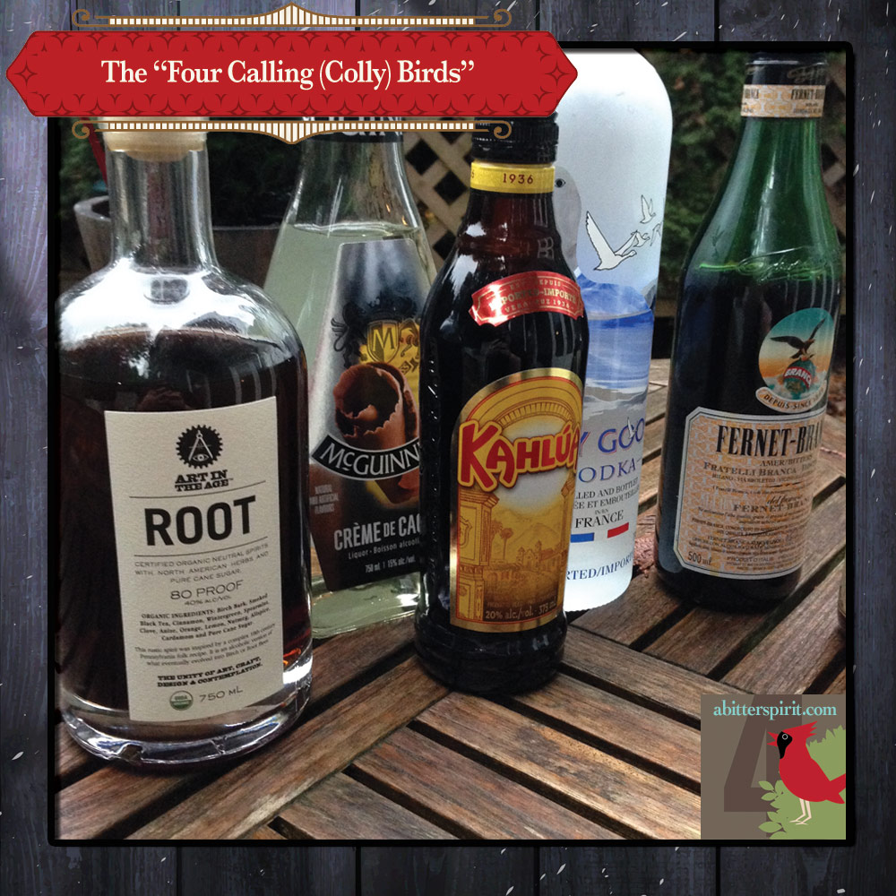 The 'Four Calling Birds' Cocktail Ingredients - ABitterSpirit.com