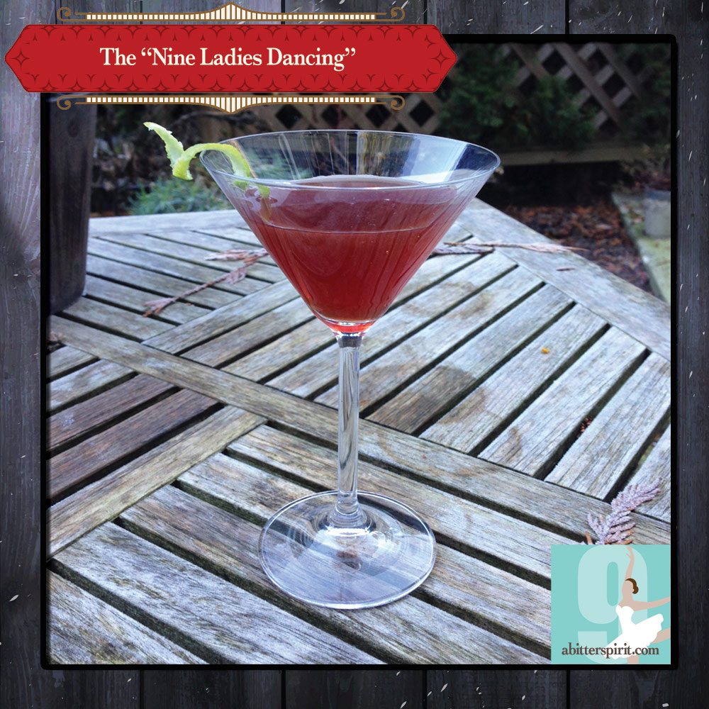 The 'Nine Ladies Dancing' Cocktail - ABitterSpirit.com