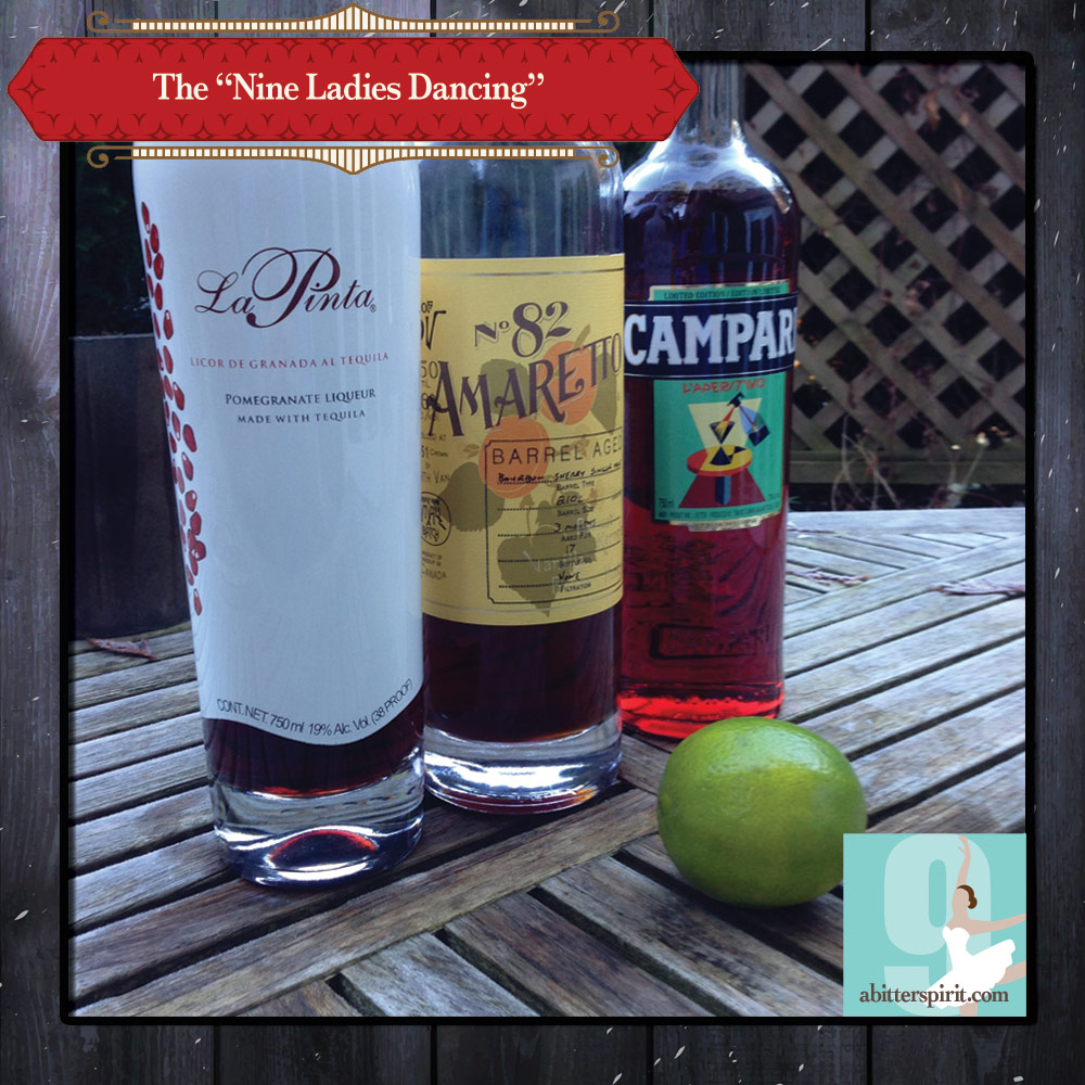 The 'Nine Ladies Dancing' Cocktail Ingredients - ABitterSpirit.com