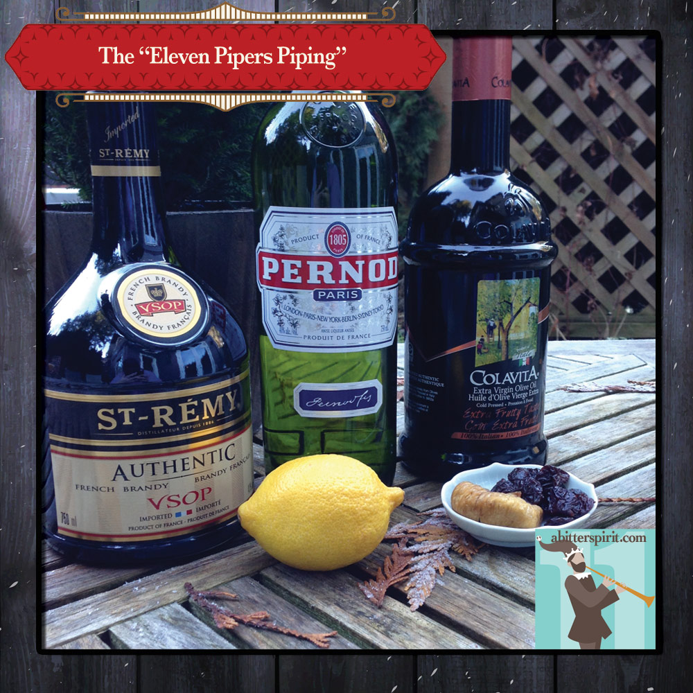 The 'Eleven Pipers Piping' Cocktail Ingredients - ABitterSpirit.com