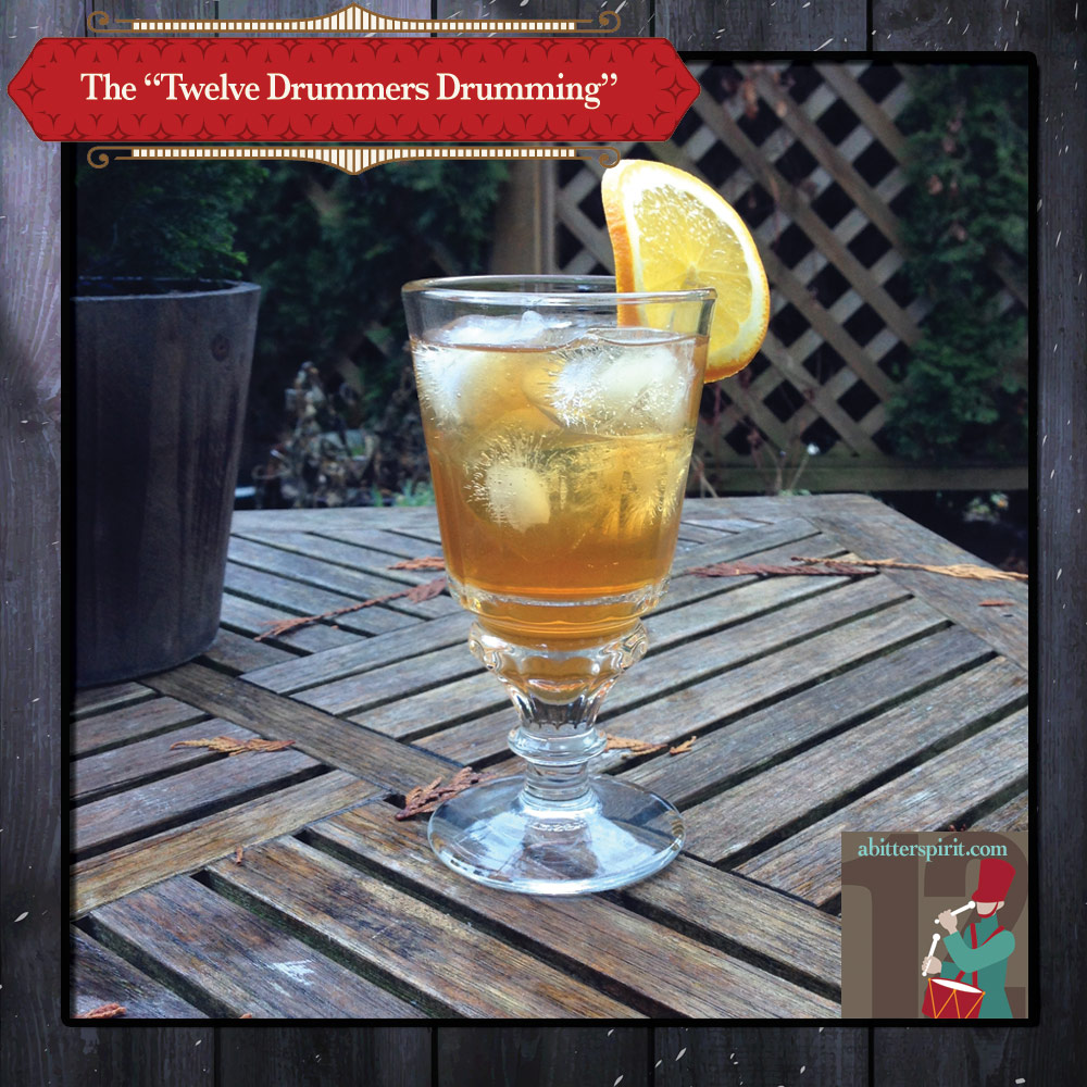 The 'Twelve Drummers Drumming' Cocktail - ABitterSpirit.com