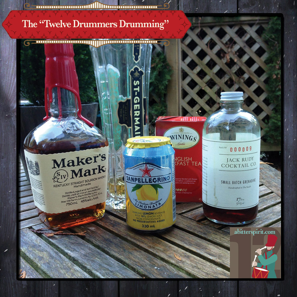 The 'Twelve Drummers Drumming' Cocktail Ingredients - ABitterSpirit.com