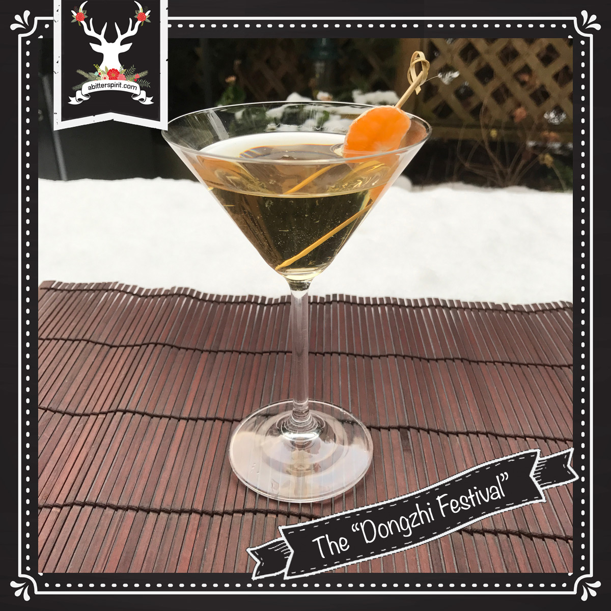 The 'Dongzhi Festival' Cocktail - ABitterSpirit.com
