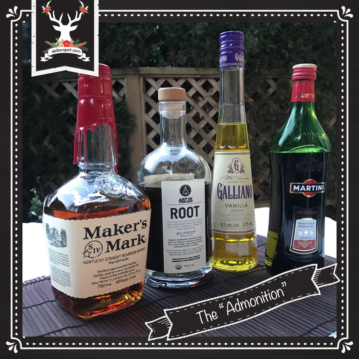 The 'Admonition' Cocktail Ingredients - ABitterSpirit.com